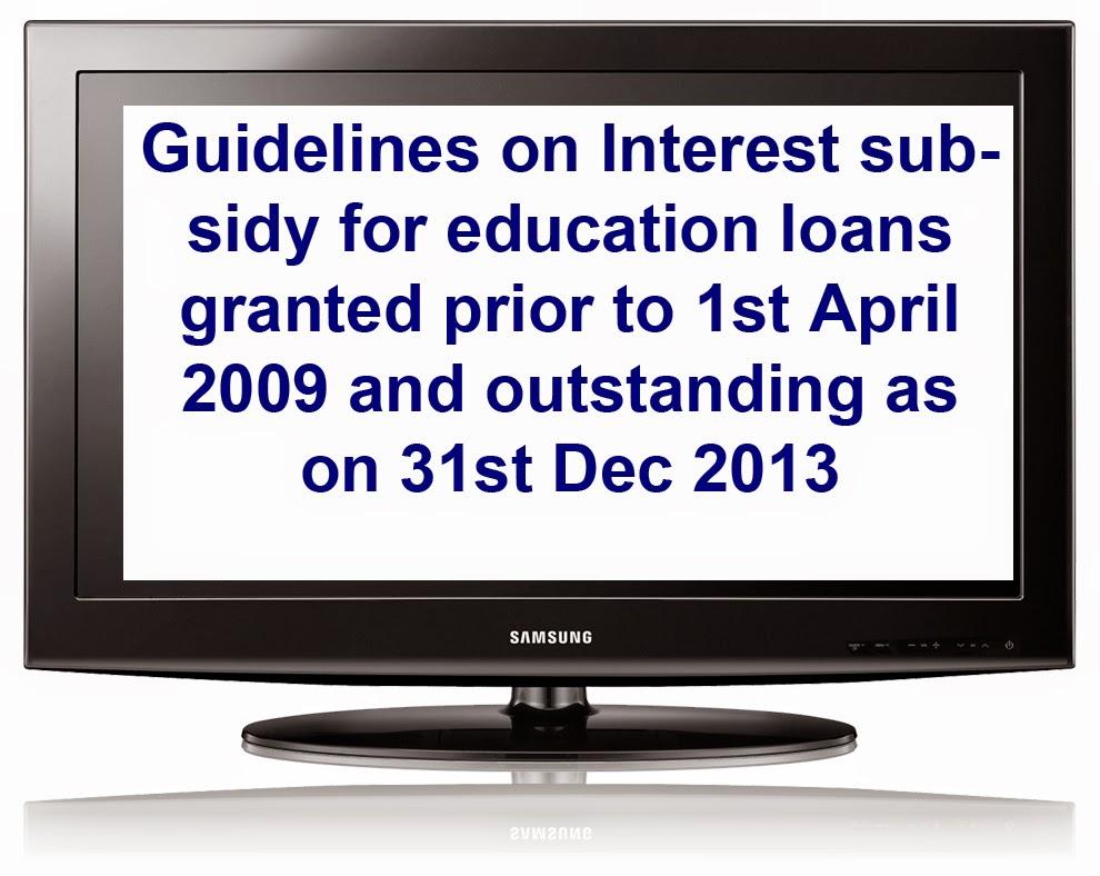 education loan interest subsidy 2014 canara bank