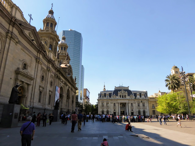 Plaza de Armas in Santiago Chile