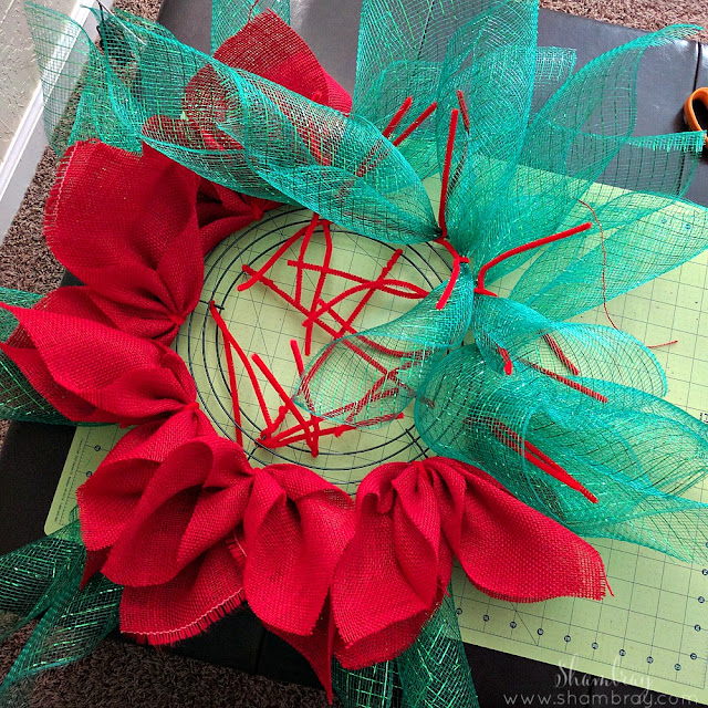 Poinsettia Wreath: The Christmas Version of the Sunflower Wreath