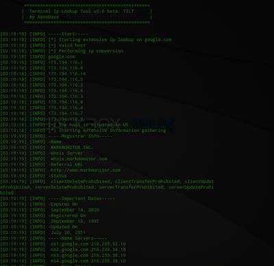 Tilt - Automatic Terminal IP Lookup Tool on Kali Linux