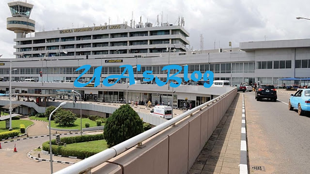 BREAKING News: Fire Outbreak At Lagos Airport, Engulfs Overland Airways Aircraft