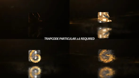 Videohive Glowing Particals Logo Reveal 35 Golden Particals 11 26805971