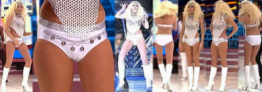 Anna Simon Video TCMS Short Cortisimo Ceñido Con Botas Como Lady GaGa