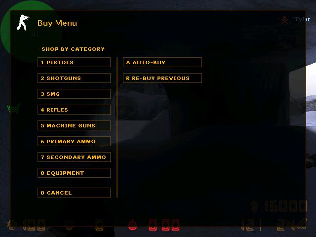 Senjata dalam games counter strike yang dapat Anda beli