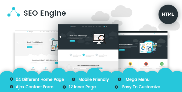 SEOEngine - SEO, Digital Marketing Agency HTML Template | Download ...