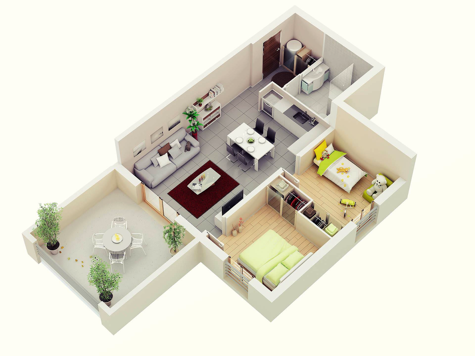 Stylish%2BModern%2BHome%2B3D%2BFloor%2BPlans%2B%25281%2529 Stylish Home 3D Floor Plans Interior