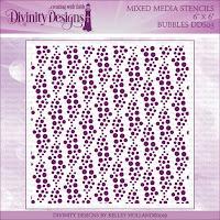 Divinity Designs LLC Bubbles Mixed Media Stencil