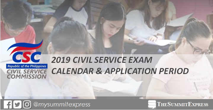 CSC announcs 2019 civil service exam schedule, application period