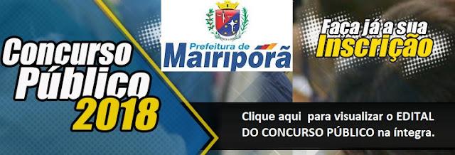 Concurso Prefeitura municipal de Mairiporã 2018 - Apostila PDF