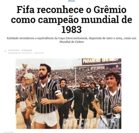 O Grêmio é oficialmente um campeão do mundo. Na manhã desta segunda-feira fa7e8451365a3