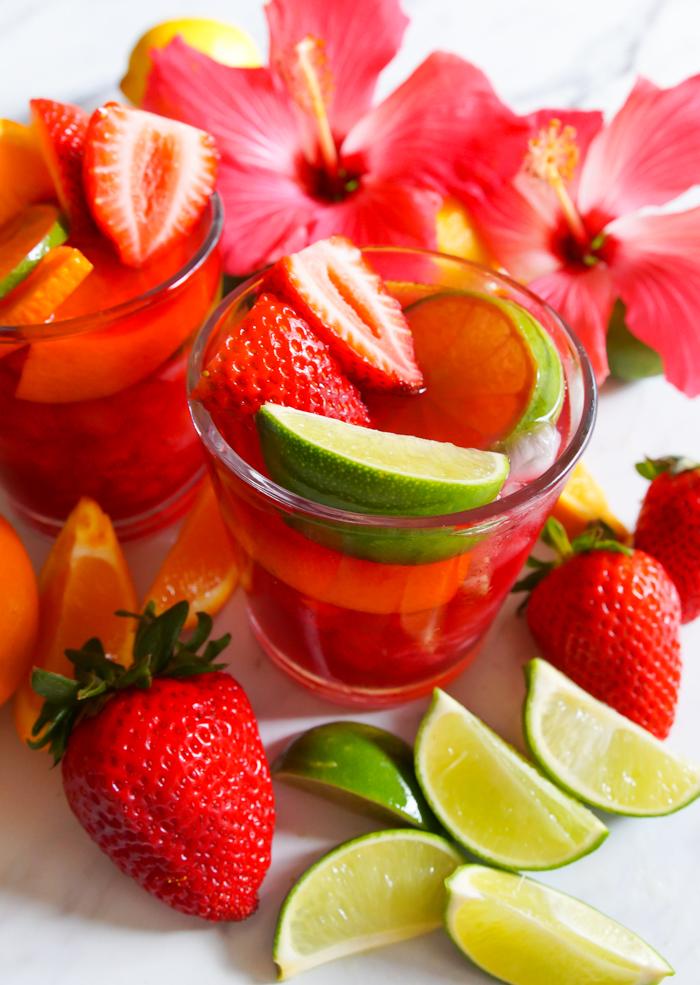 Hibiscus Agua Fresca and Rose Sangria ♥ bakeat350.net
