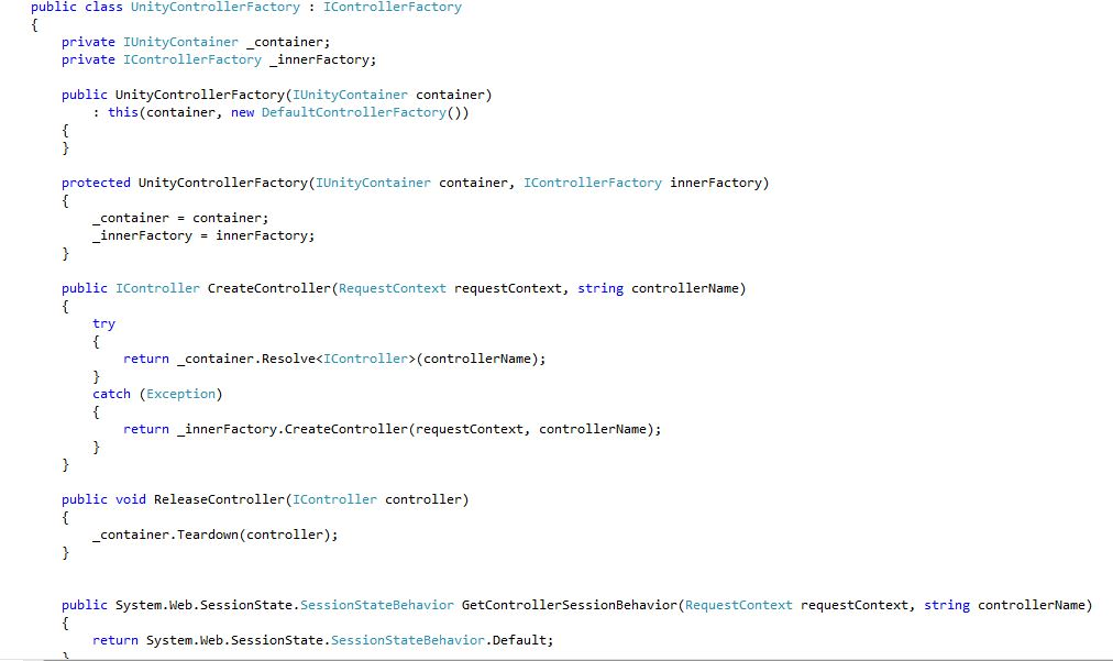 Dependency Injection code sample4