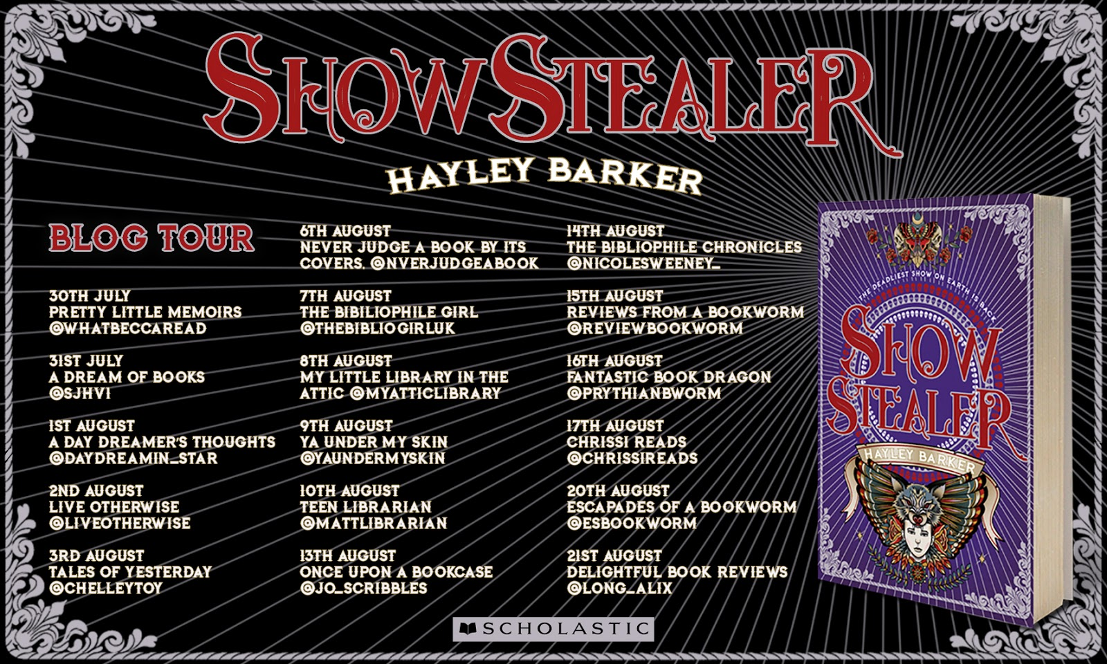 Show Stealer by Hayley Baker Blog Tour Banner