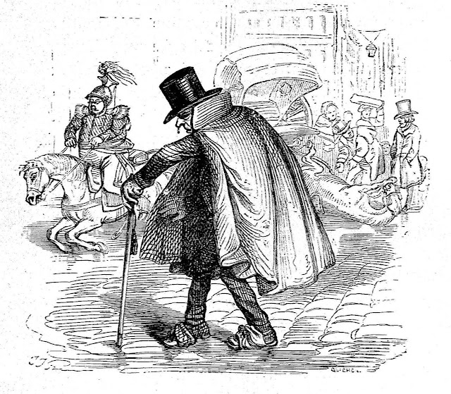 J.J. Grandville drawing of winter