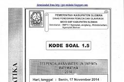 SOAL TPM SMP/MTs KABUPATEN SLEMAN (17-18 November 2014) MATEMATIKA