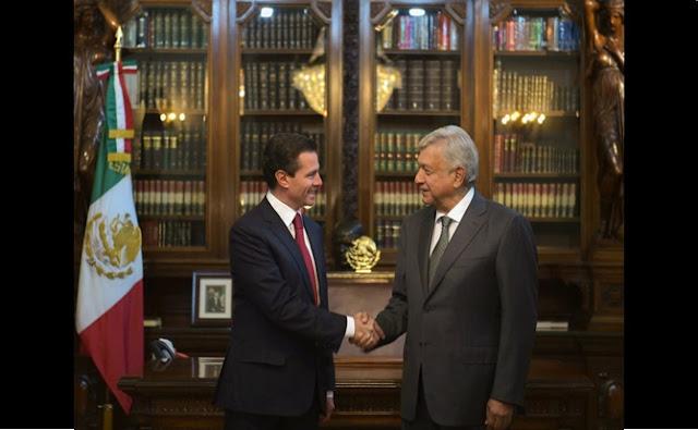 Peña Nieto, Amlo, palacio nacional