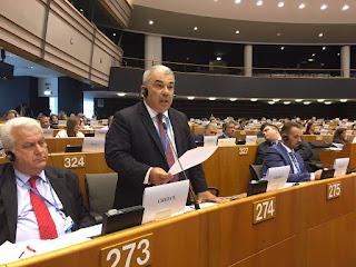Στην συνεδρίαση του Ευρωκοινοβουλίου επιχειρηματιών ο Πρόεδρος του Επιμελητηρίου Λέσβου Ευάγγελος Μυρσινιάς