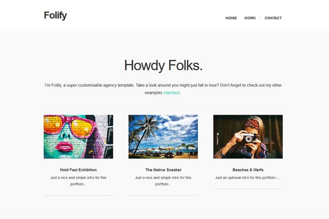 Folify - Portfolio Blogger Template