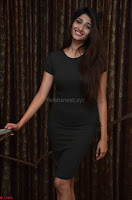 Priya Vadlamani super cute in tight brown dress at Stone Media Films production No 1 movie announcement 041.jpg