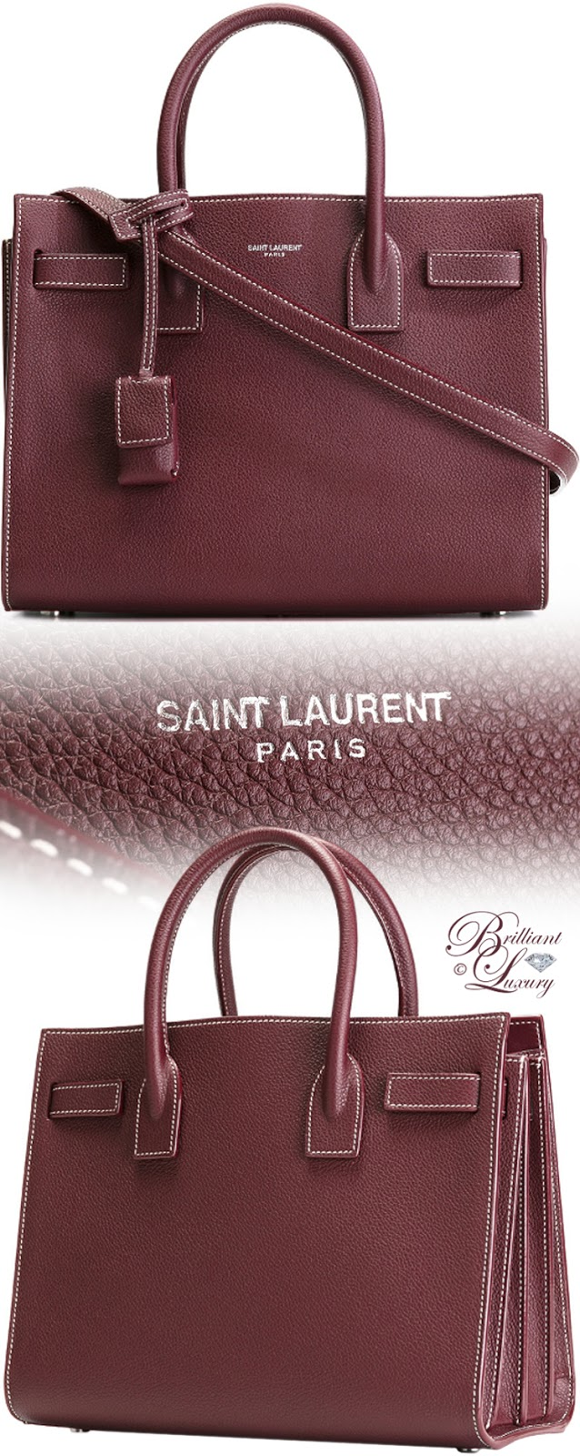 Brilliant Luxury ♦ Saint Laurent Small Sac de Jour Tote