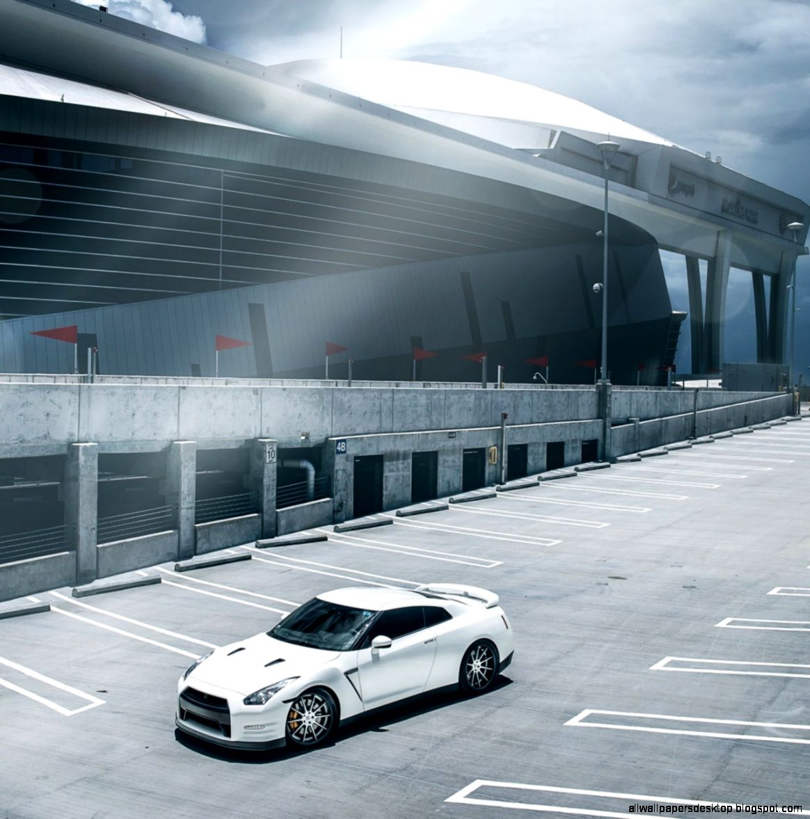 Nissan Car Parking Hd Wallpaper
