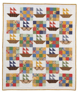 My Quilting Project Sailing Boats Baby Blanket Love To