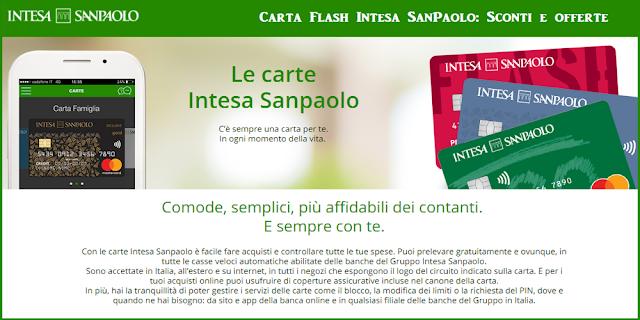Carta Flash Intesa SanPaolo: Sconti e offerte