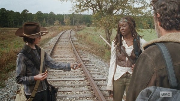 "Rick, Michonne y Carl en ""US"" el capítulo 4x15 de The Walking Dead"