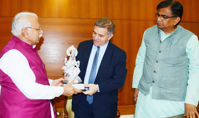 CM meeting with Ambassador of Israel, and Chairman, NCSC Press Conference at Chandigarh