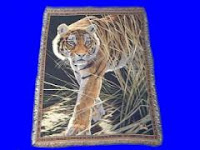 tiger prowling blanket throw tapestry