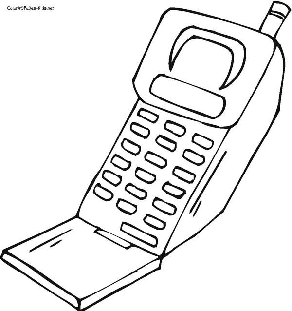 Desenhos de Telefone Celular para Colorir