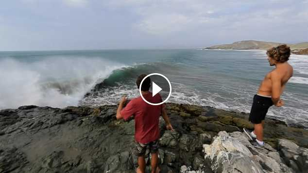 Searching for Waves in Peru thanks to El Niño ~ Alvaro Malpartida and Cristobal de Col