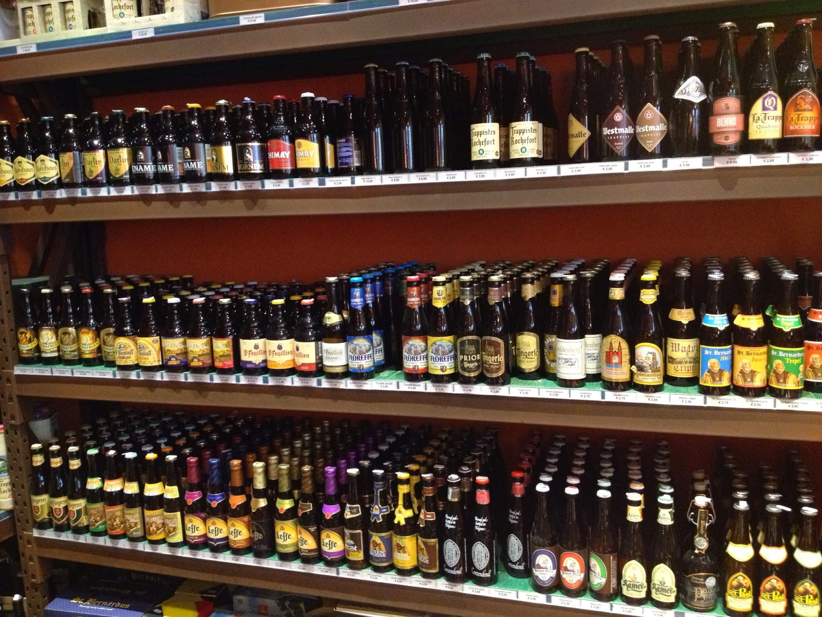 Brussels - Over 1000 different beers are brewed in Belgium