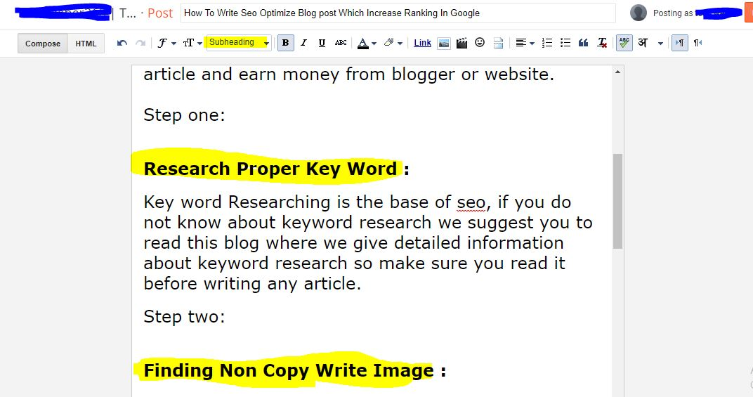 How To Write Seo Optimize Blog post Which Increase Ranking In Google