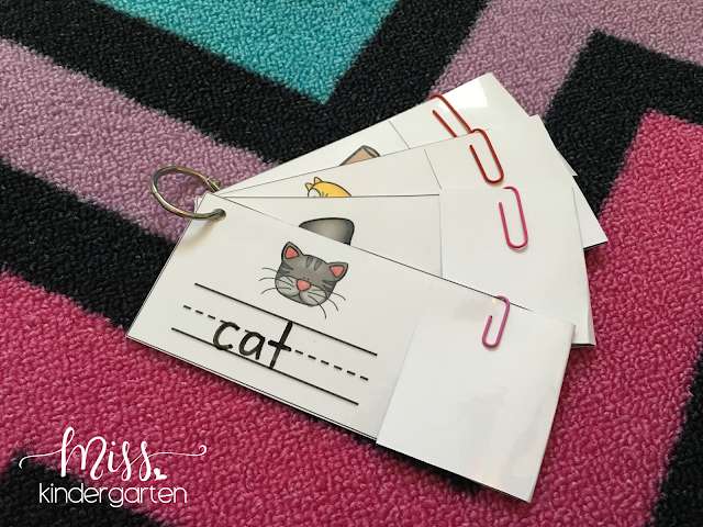 Write and Reveal cards have a hidden flap to make this center completely independent and self-correcting!