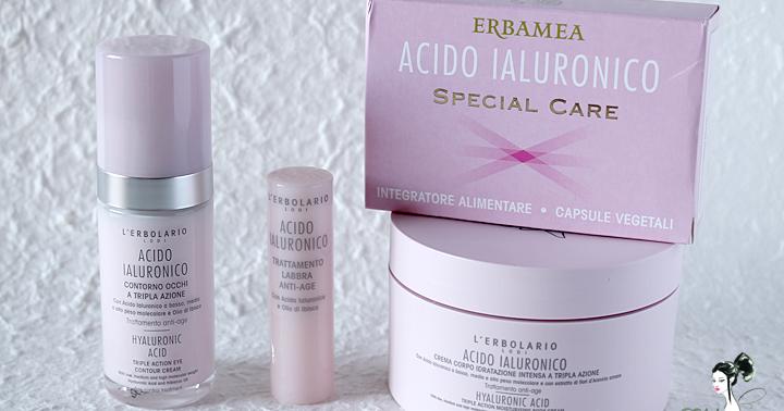 L'Erbolario e Erbamea Linea Acido Ialuronico - L'acido che fa (tanto) bene alla pelle