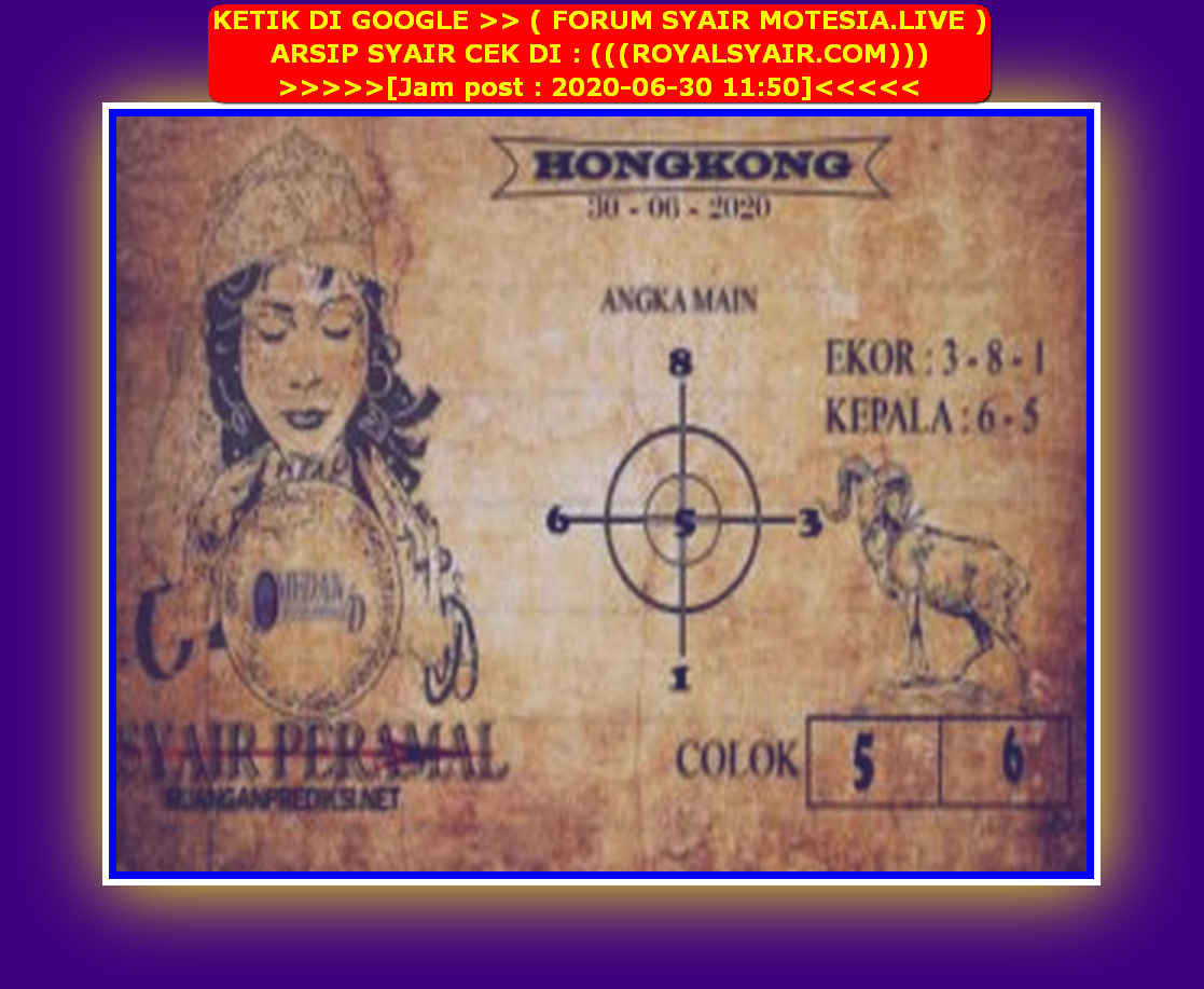Kode syair Hongkong Selasa 30 Juni 2020 212