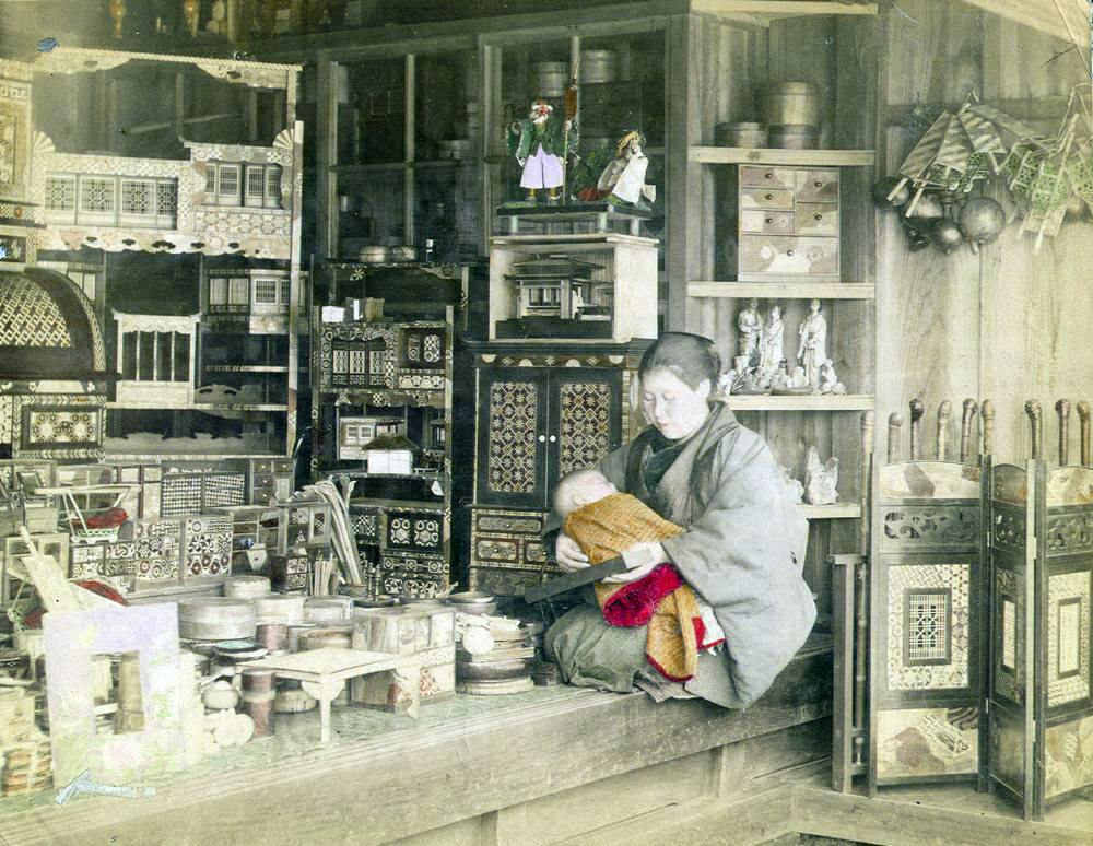 Shops And Stores In Japan In The 19th Century Vintage