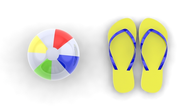 pelota playa chanclas solidworks