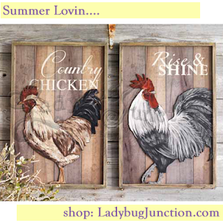 Rooster Wall Plaques