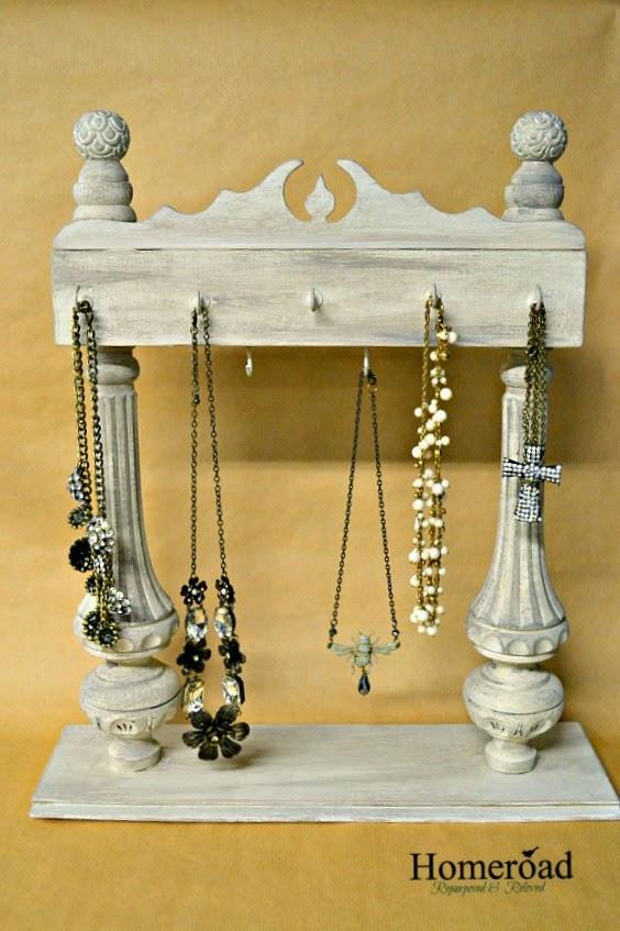 Repurposed DIY Jewelry Display
