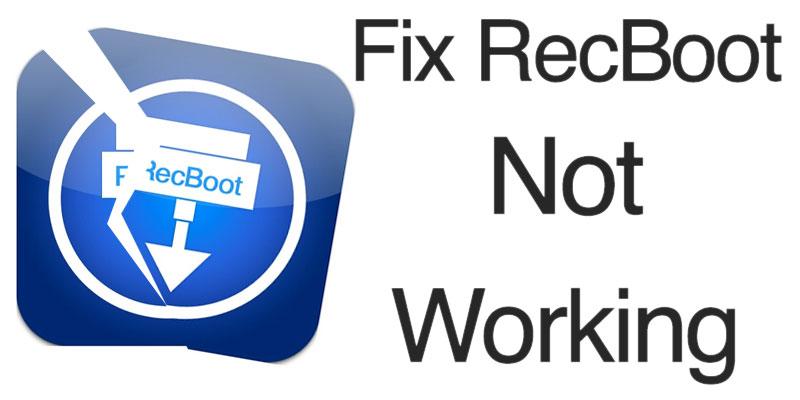 recboot not working