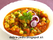 Cícer s paradajkovou omáčkou a kurkumou - recept