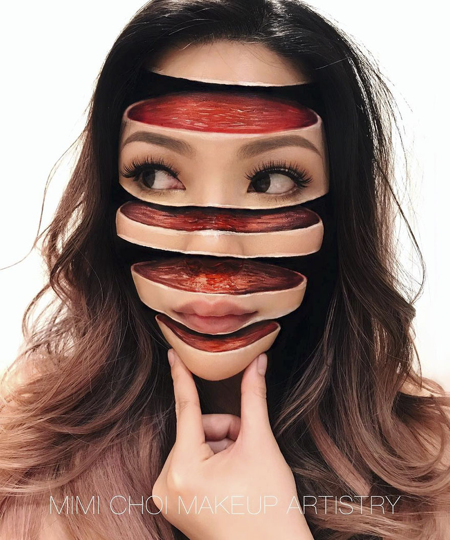 #10 - Woman Gives Up Teaching To Create Optical Illusions With Makeup, And It's Messing With Our Minds