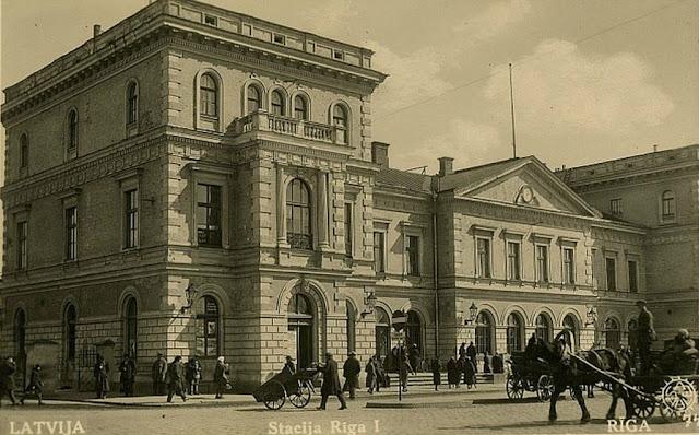 1930-е (?) годы. Рига. Stacija Rīga I