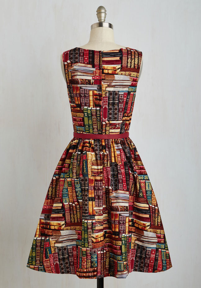 The Frivolous Bibliophile Modcloth Archive Got the Power Book Print Belted Dress