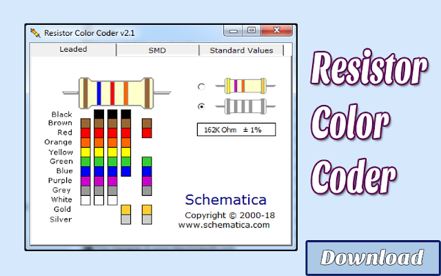 Download Resistor Color Coder | Kalkulator / Info & Softwares Elektronika