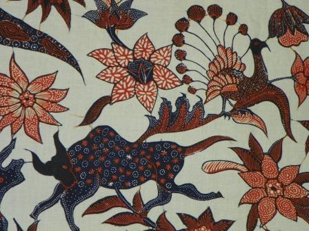 Gambar Contoh Motif Batik Hewan Selendang Tulis Binatang ...