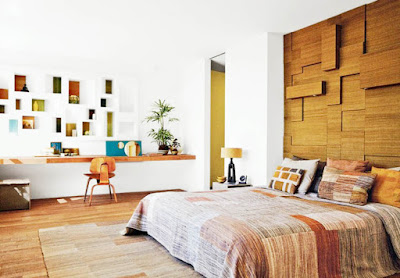 wood and upholstered headboard