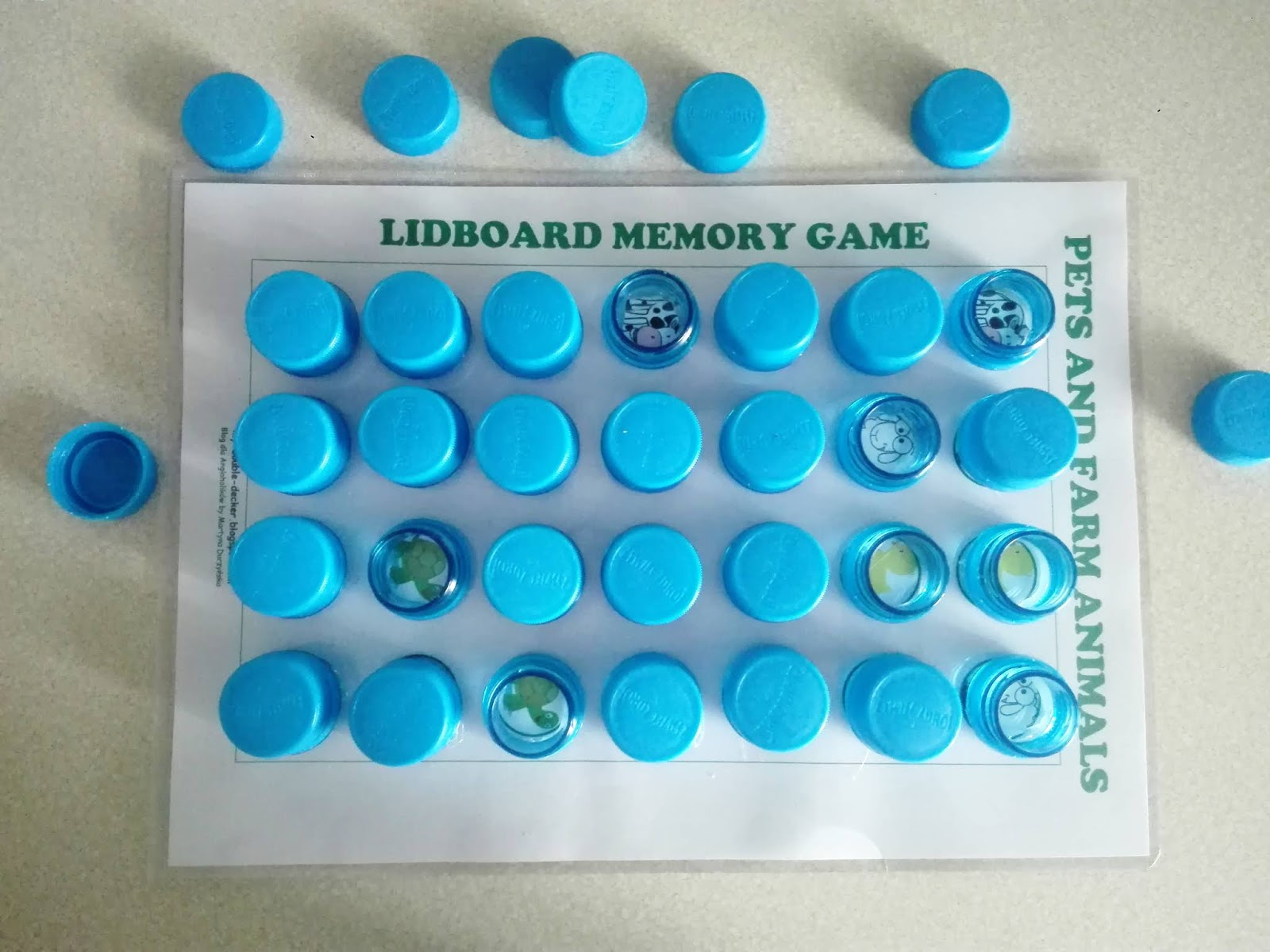 LIDBOARD MEMORY GAME - WILD ANIMALS, FARM ANIMALS AND PETS